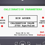 calibration parameter screen