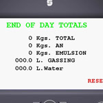end of day total screen
