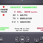 products parameter screen
